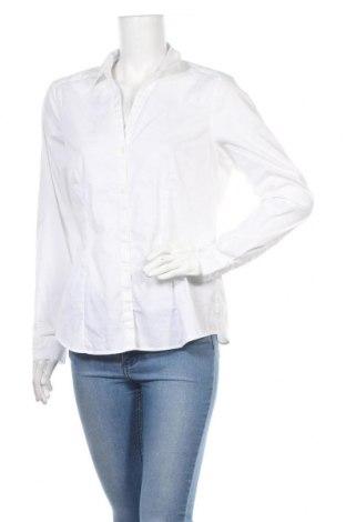 Cămașă de femei H&M, Mărime XL, Culoare Alb, 72% bumbac, 25% poliester, 3% elastan, Preț 51,45 Lei