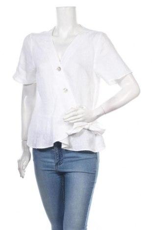 Dámská košile  H&M L.O.G.G., Velikost L, Barva Bílá, Len, Cena  335,00Kč