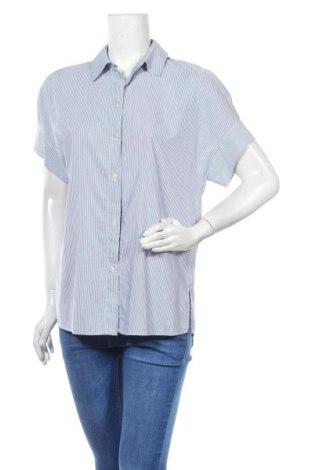 Дамска риза Mango, Размер S, Цвят Син, 57% вискоза, 43% полиестер, Цена 33,60лв.