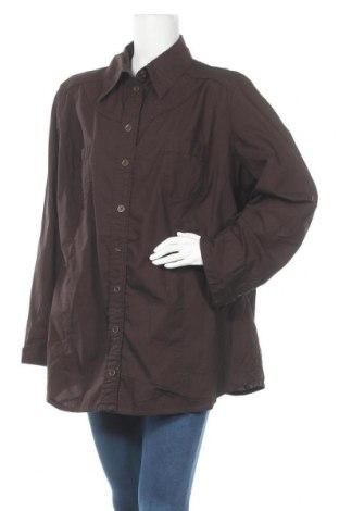 Дамска риза Maxi Blue, Размер 3XL, Цвят Кафяв, Памук, Цена 7,25лв.