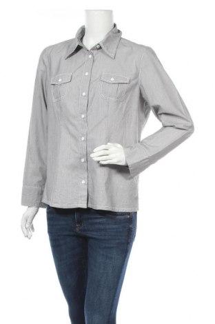 Дамска риза My Own, Размер L, Цвят Сив, 54% памук, 43% полиестер, 3% еластан, Цена 15,96лв.