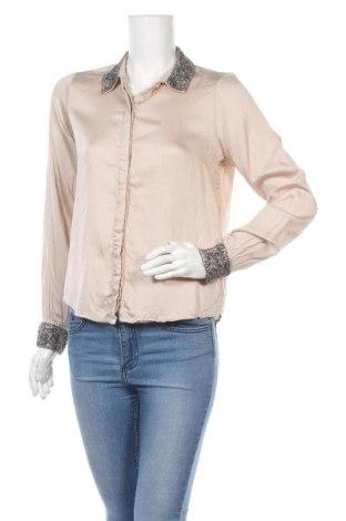 Дамска риза Object, Размер S, Цвят Бежов, 60% вискоза, 40% памук, Цена 14,30лв.