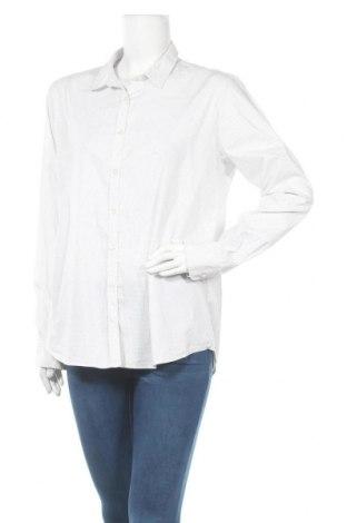 Дамска риза Opus, Размер L, Цвят Бял, 77% памук, 20% полиамид, 3% еластан, Цена 19,95лв.