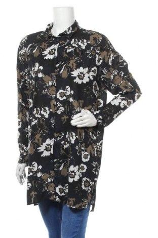 Γυναικείο πουκάμισο Pieces, Μέγεθος M, Χρώμα Πολύχρωμο, Πολυεστέρας, Τιμή 10,49€