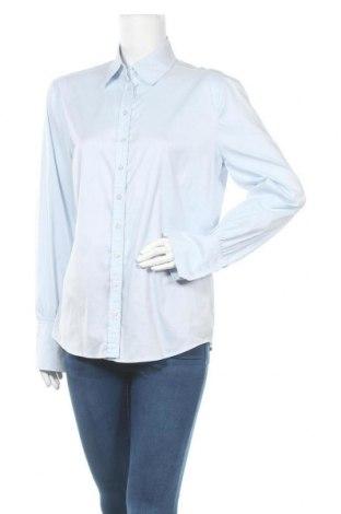 Дамска риза Rene Lezard, Размер XL, Цвят Син, 63% памук, 37% полиамид, Цена 35,70лв.