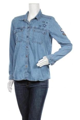Дамска риза Tom Tailor, Размер S, Цвят Син, Памук, Цена 35,70лв.