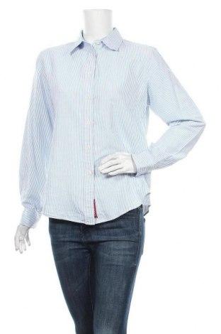 Γυναικείο πουκάμισο Tommy Hilfiger, Μέγεθος L, Χρώμα Μπλέ, Βαμβάκι, Τιμή 17,54€