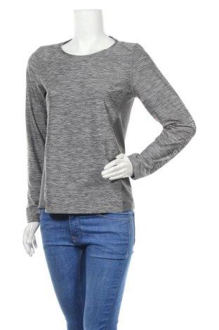 Дамска спортна блуза Essentials by Tchibo, Размер S, Цвят Сив, 88% полиестер, 12% еластан, Цена 15,12лв.