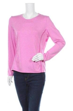 Дамска спортна блуза Essentials by Tchibo, Размер M, Цвят Розов, 88% полиестер, 12% еластан, Цена 7,56лв.