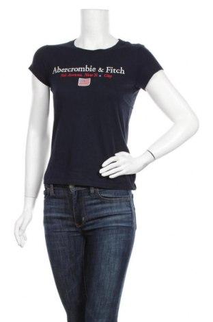 Γυναικείο t-shirt Abercrombie & Fitch, Μέγεθος S, Χρώμα Μπλέ, Βαμβάκι, Τιμή 22,81€