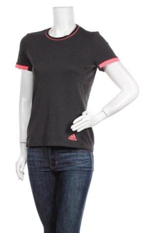 Γυναικείο t-shirt Adidas, Μέγεθος M, Χρώμα Γκρί, Τιμή 14,94€