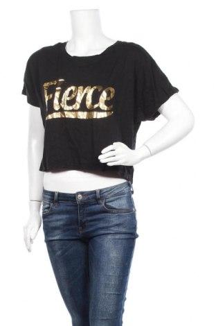 Дамска тениска Anko, Размер XL, Цвят Черен, 46% памук, 46% модал, 8% еластан, Цена 15,96лв.