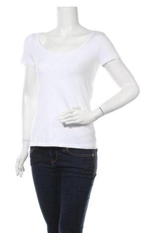 Γυναικείο t-shirt Anna Field, Μέγεθος M, Χρώμα Λευκό, 95% βαμβάκι, 5% ελαστάνη, Τιμή 10,05€