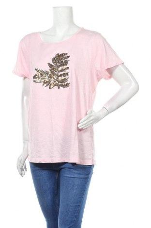 Дамска тениска Ellos, Размер XL, Цвят Розов, Памук, Цена 13,97лв.