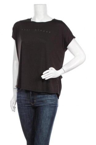 Дамска тениска Ergee, Размер L, Цвят Черен, 95% полиестер, 5% еластан, Цена 18,90лв.