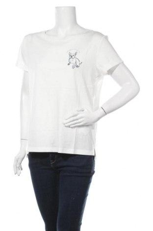 Γυναικείο t-shirt Esprit, Μέγεθος L, Χρώμα Εκρού, Βαμβάκι, Τιμή 10,05€