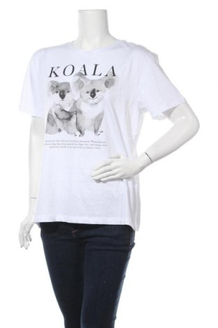 Γυναικείο t-shirt Even&Odd, Μέγεθος L, Χρώμα Λευκό, Βαμβάκι, Τιμή 9,28€