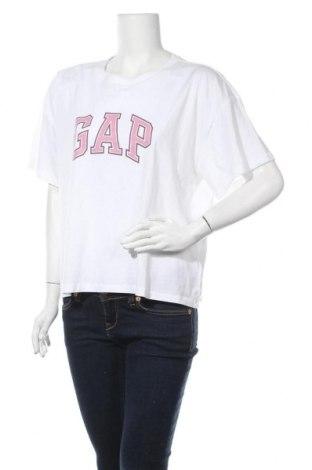 Γυναικείο t-shirt Gap, Μέγεθος L, Χρώμα Λευκό, Βαμβάκι, Τιμή 15,08€
