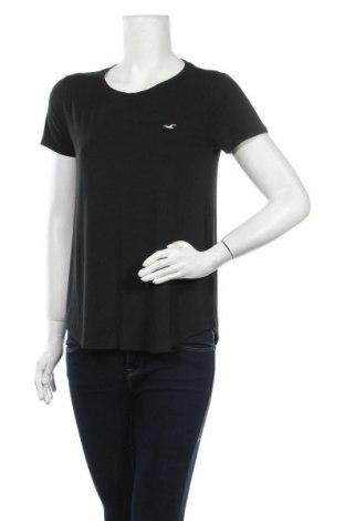 Γυναικείο t-shirt Hollister, Μέγεθος S, Χρώμα Μαύρο, 95% βισκόζη, 5% ελαστάνη, Τιμή 10,82€