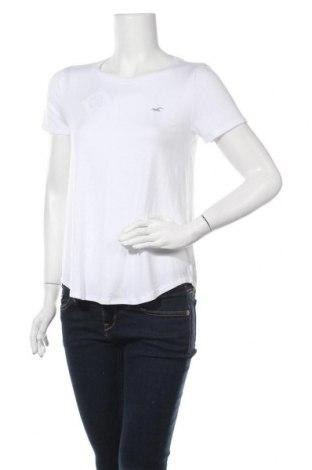 Γυναικείο t-shirt Hollister, Μέγεθος S, Χρώμα Λευκό, 95% βισκόζη, 5% ελαστάνη, Τιμή 10,82€