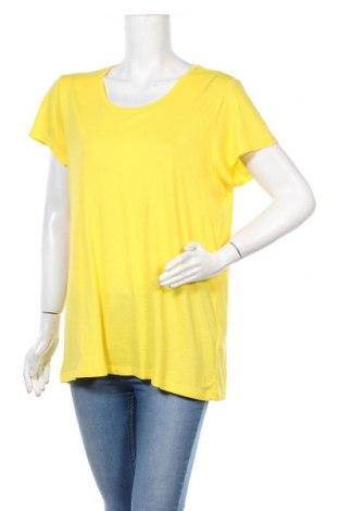Γυναικείο t-shirt Kaffe, Μέγεθος XL, Χρώμα Κίτρινο, 100% βισκόζη, Τιμή 18,95€