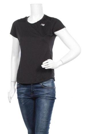 Дамска тениска New Balance, Размер M, Цвят Черен, Цена 23,10лв.