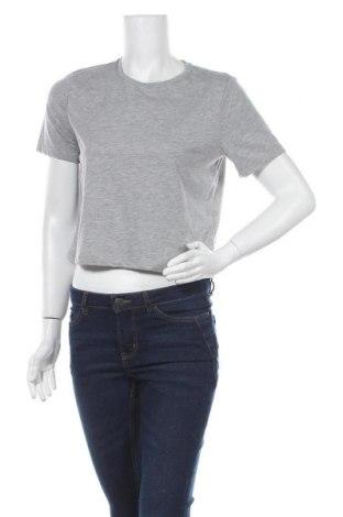 Γυναικείο t-shirt Pieces, Μέγεθος S, Χρώμα Γκρί, 60% βαμβάκι, 40% πολυεστέρας, Τιμή 10,05€