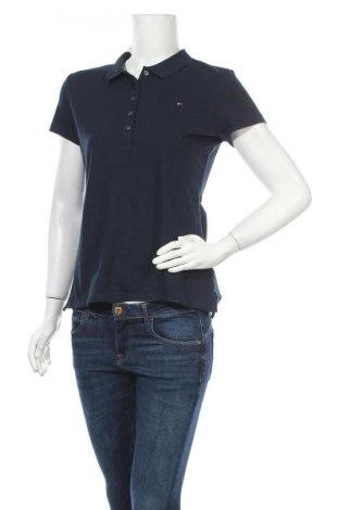 Γυναικείο t-shirt Tommy Hilfiger, Μέγεθος L, Χρώμα Μπλέ, 96% βαμβάκι, 4% ελαστάνη, Τιμή 34,41€
