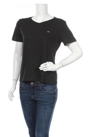 Γυναικείο t-shirt Tommy Hilfiger, Μέγεθος M, Χρώμα Μαύρο, Βαμβάκι, Τιμή 34,41€