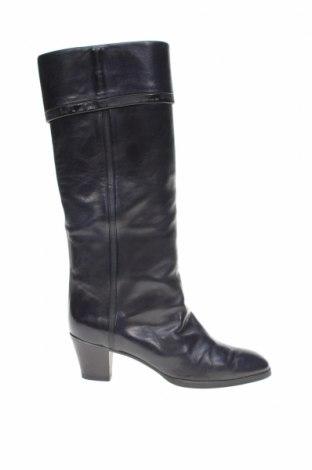 Γυναικείες μπότες Pollini, Μέγεθος 39, Χρώμα Μπλέ, Γνήσιο δέρμα, Τιμή 45,27€