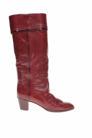 Γυναικείες μπότες Pollini, Μέγεθος 39, Χρώμα Κόκκινο, Γνήσιο δέρμα, Τιμή 45,27€