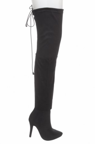 Дамски ботуши Quiz, Размер 38, Цвят Черен, Текстил, Цена 76,02лв.