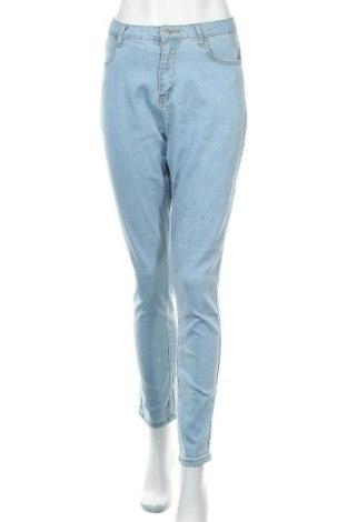 Дамски дънки, Размер L, Цвят Син, 85% памук, 13% полиестер, 2% еластан, Цена 25,20лв.