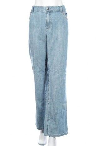 Дамски дънки, Размер 3XL, Цвят Син, 99% памук, 1% еластан, Цена 36,75лв.