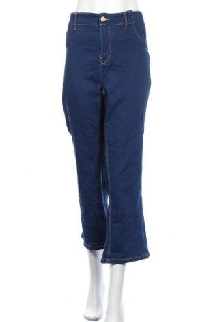 Дамски дънки, Размер XL, Цвят Син, 78% памук, 20% полиестер, 2% еластан, Цена 13,65лв.