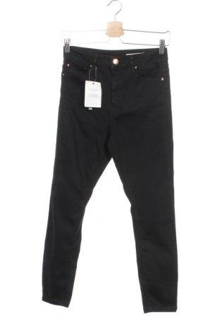 Дамски дънки ASOS, Размер S, Цвят Черен, 66% памук, 20% полиестер, 11% вискоза, 3% еластан, Цена 13,69лв.
