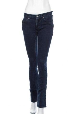 Дамски дънки Adidas, Размер S, Цвят Син, 98% памук, 2% еластан, Цена 50,40лв.