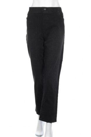 Дамски дънки Beta Brand, Размер XXL, Цвят Черен, 66% памук, 20% вискоза, 8% полиестер, 6% еластан, Цена 25,52лв.