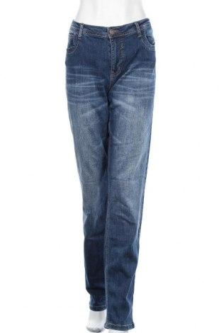 Дамски дънки Blue Fire Co, Размер XL, Цвят Син, 92% памук, 6% полиестер, 2% еластан, Цена 23,10лв.
