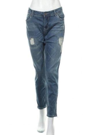 Дамски дънки Body Flirt, Размер XL, Цвят Син, 98% памук, 2% еластан, Цена 27,30лв.