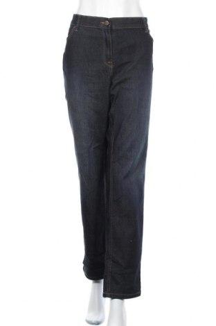 Дамски дънки C&A, Размер XXL, Цвят Син, 81% памук, 17% полиестер, 2% еластан, Цена 12,29лв.