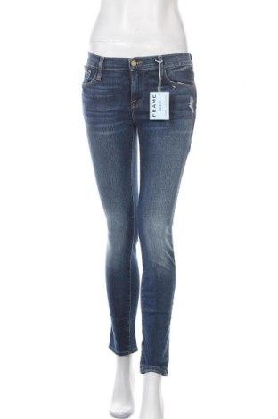 Дамски дънки Frame, Размер S, Цвят Син, 93% памук, 6% полиестер, 1% еластан, Цена 155,35лв.