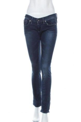 Дамски дънки G-Star Raw, Размер L, Цвят Син, 98% памук, 2% еластан, Цена 56,70лв.