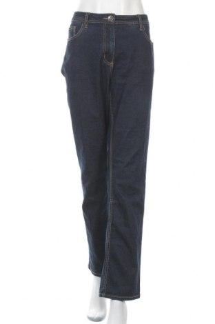 Дамски дънки Gina Laura, Размер L, Цвят Син, 85% памук, 14% полиестер, 1% еластан, Цена 25,94лв.
