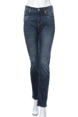 Дамски дънки H&M, Размер XL, Цвят Син, 99% памук, 1% еластан, Цена 27,30лв.