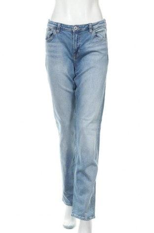 Дамски дънки H&M, Размер XL, Цвят Син, 98% памук, 2% еластан, Цена 28,35лв.