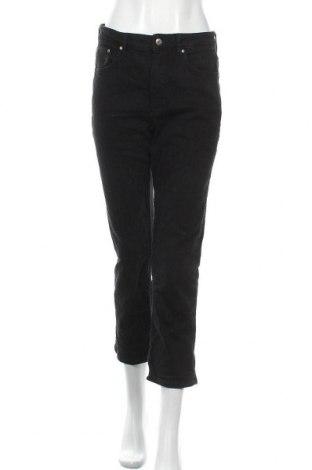 Дамски дънки H&M, Размер M, Цвят Черен, 99% памук, 1% еластан, Цена 25,94лв.