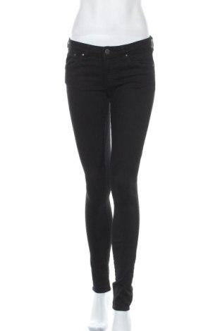 Дамски дънки H&M, Размер L, Цвят Черен, 77% памук, 20% полиестер, 3% еластан, Цена 26,25лв.