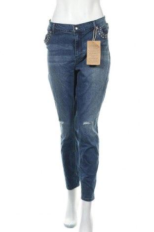Дамски дънки Janina, Размер XXL, Цвят Син, 70% памук, 28% полиестер, 2% еластан, Цена 38,85лв.