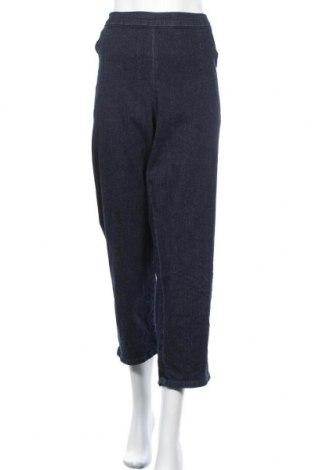 Дамски дънки Hanes, Размер 3XL, Цвят Син, 96% памук, 4% еластан, Цена 24,57лв.